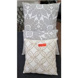 Qty 3 Decorative Throw Pillows