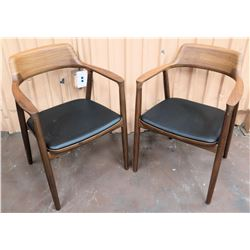 "Qty 2 Hiroshima Chairs by Armchairs by Naoto Fukusawa, Made in Japan (22""W from arm to arm)"