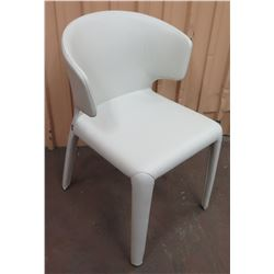 Cassina Off-White Leather-Wrapped Hola Chair