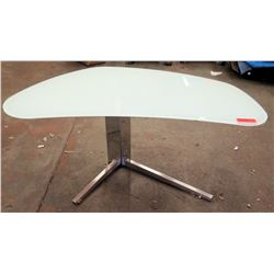 "Cattelan Italia Modern Frosted Glass Desk, 51""L x 28.5""H"