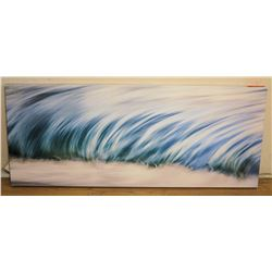 "Ocean Wave Painting on Canvas 48""L x 20""W"