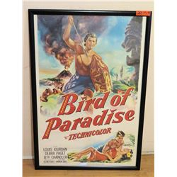 "Large ""Bird of Paradise"" Framed Movie Poster 29""W x 41""L"