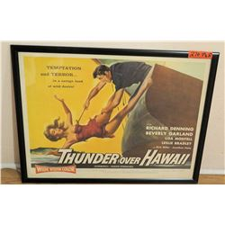 """Thunder Over Hawaii"" Framed Movie Poster 29""L x 23""W"