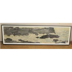 "Large Framed Masami Teraoka Watercolor, 82"" x 44"", Signed, Original Signature. Photo on Back says Mo"