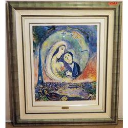 "Framed ""Le Songe"" by Marc Chagall, 43"" x 50"" Ltd. Ed. 8 of 750"