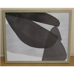"Framed Black & White Abstract Image on Foam Core 26"" x 32"""