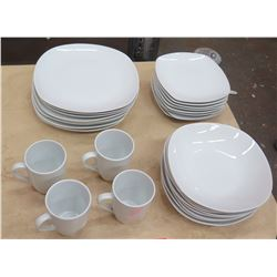 Tabletops Gallery White Dishware: Salad & Dinner Plates, Bowls, Coffee Cups