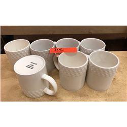 Qty 7 White Pfaltzgraff Laurel Coffee Cups
