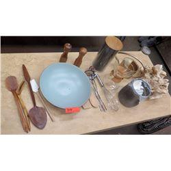 Wooden Kitchen Utensils, Salt & Pepper Shakers, Stone Accent Decor, etc.