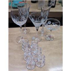 Misc. Decorative Glass Stemware & Shot Glasses