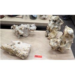 Qty 3 Natural Rock Accent Décor Pieces