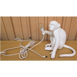 "Monkey Desk Lamp 12""H"