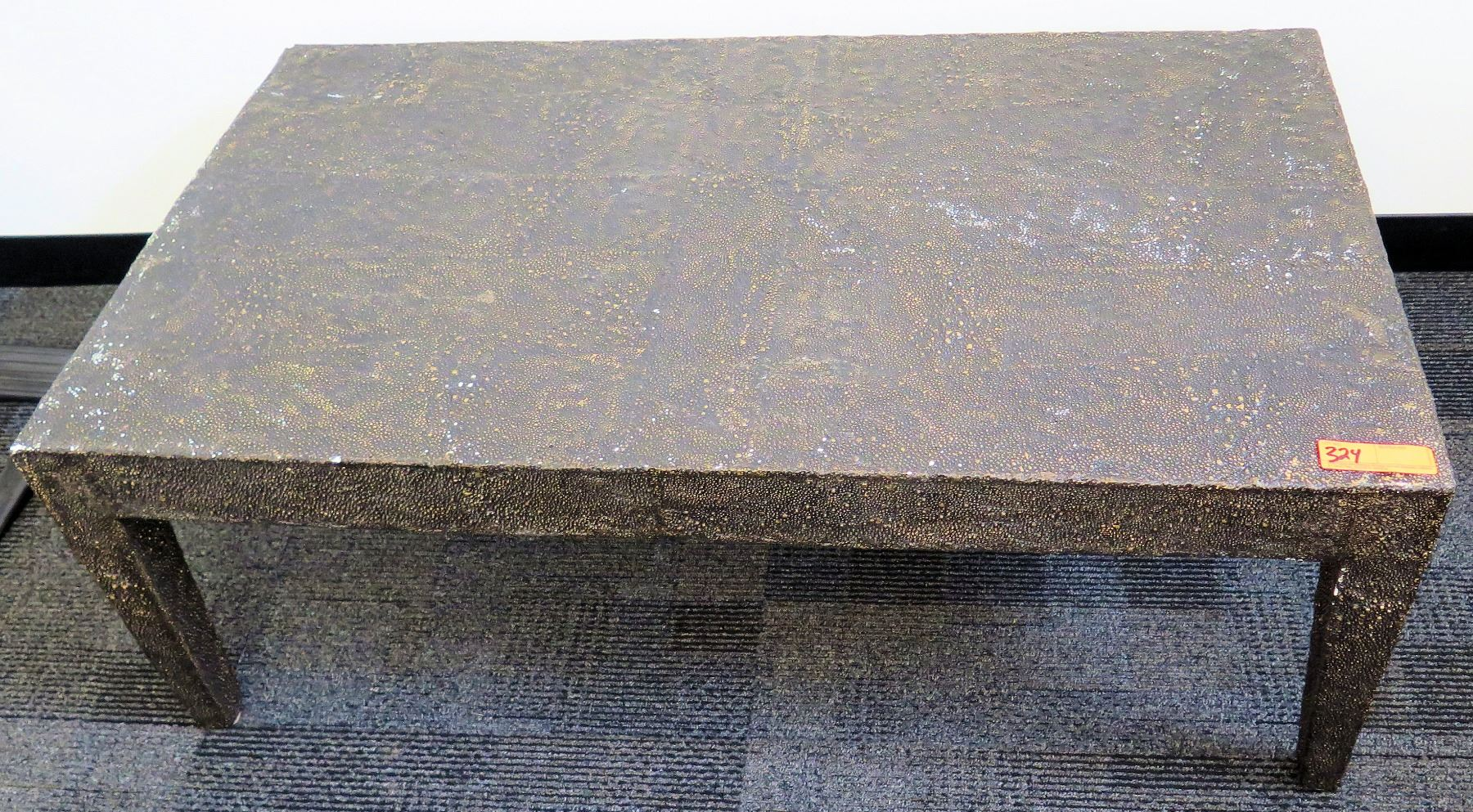 Pleasing Modern Stone Look Composite Coffee Table Oahu Auctions Ncnpc Chair Design For Home Ncnpcorg