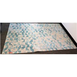 "Indich Collection Area Rug 'White/Jamaican Aqua' 5'6"" x 8'0"""