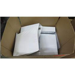 Approx. Qty 30 White Three-Ring Binders, Large