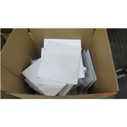 Approx. Qty 31 White Three Ring Binders, Small