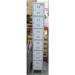 "Vertical 6-Compartment Locker 12"" x 18"" x 78"" H"