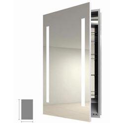 "DuraMirror Electric Lighted Mirrored Bathroom Medicine Cabinet 25"" x 36"""