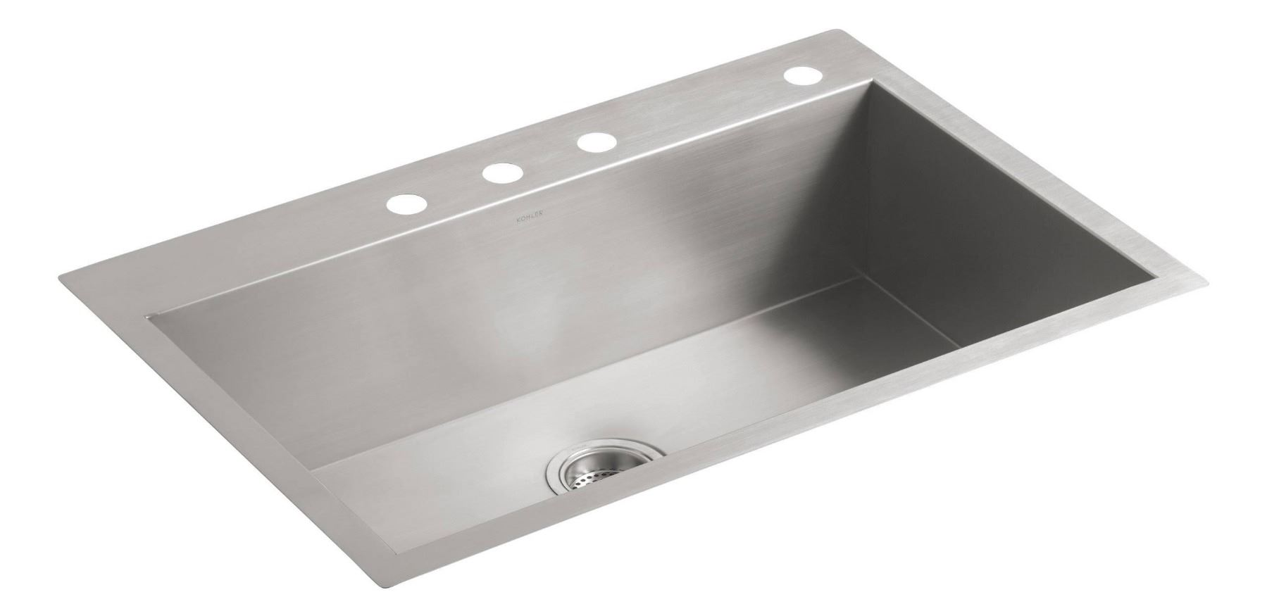 Kohler Vault 33 Single Bowl Stainless Steel Kitchen Sink