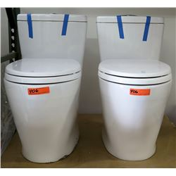 Qty 2 One-Piece Freestanding Toilets