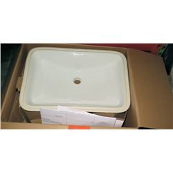 "Toto Rectangle White Sink Basin 21"" x 14.5"" Model LT542G#01"
