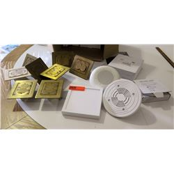 Multiple Brass Electrical Outlet Plates, LED Lighting Fixtures, etc.