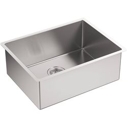 Qty 2 Kohler Strive Single-Basin Undermount Kitchen Sink Model 5286-NA and Model 3821