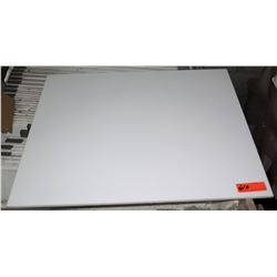 "Qty 65 Square 30"" White Microlite Wall Tile"