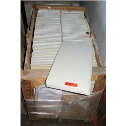 """Pallet 33 ST-15 Ashanti White Marble Slabs 12"""" x 24"""""""