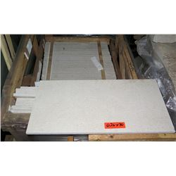 "Pallet 70 Pieces 12""x24"" White Stone Slabs"