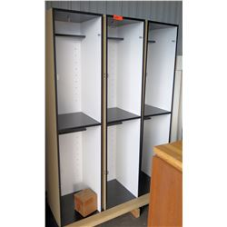 Qty 3 Ideal Products 2 Cubicle Open Front Lockers