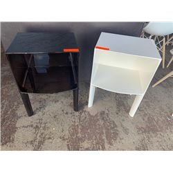 Qty 2 Side Tables (Black & White) by Kartell, Milano