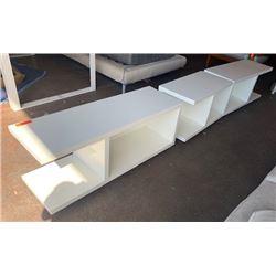 Minimalist White Modular Bench System