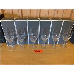 Qty 6 Vera Wang Wedgwood 'Verre' Stemmed Wineglasses