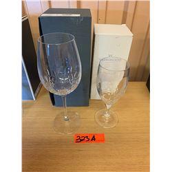 1 Vera Wang Wedgwood Stemmed Glass & 1 Waterford Crystal 'Lismore Diamond' Stemmed Goblet