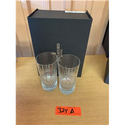 Qty 2 Waterford Crystal 'Lismore Diamond' Hi-Ball Glasses