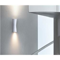 Qty 1 New Clessidra Wall Light Model F1580009, Gloss White Designed by Antonio Citterio (Retail $745
