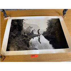 B&W Franco Salmoiraghi Print on Canon Inkjet Printer, Back Signed by Artist, 36x24 Waipio Valley,