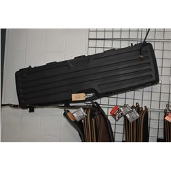 Large Foam Lined Plastic Luggage Style Gun Case [ will hold three or four guns ]