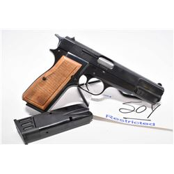 Restricted Handgun - F.N. ( Browning Patent ) Model 1935 High Power .9 MM Luger Cal 10 Shot Semi Aut