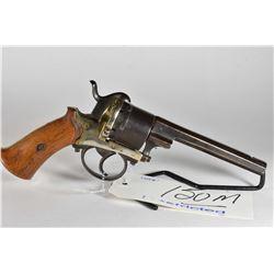 Restricted Handgun - Unknown Belgian Model LeFaucheux Type 6 Shot Revolver w/ 120 mm bbl [ fading bl