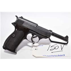 Restricted Handgun - Walther ( BYF Dated 43 ) Model P 38 .9 MM Luger Cal 8 Shot Semi Auto Pistol w/