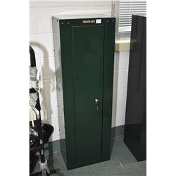 Green Stack On Metal Gun Locker w/ key