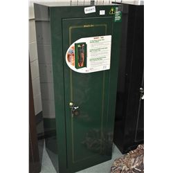Green Heavy Duty Stack On Locking Rifle Cabinet w/ key