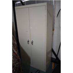 Large Cream Colored Locking Ammo Cabinet w/ key