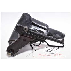 Prohib 12 - 6 - Luger ( Erfurt Arsenal Dated 1912 ) Model P08 .9 MM Luger Cal 8 Shot Semi Auto Pisto