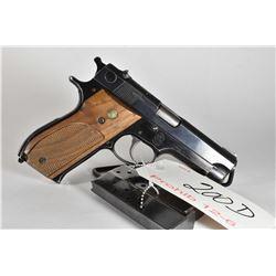 Prohib 12 - 6 - Smith & Wesson Model 39 - 2 .9 MM Luger Cal 8 Shot Semi Auto Pistol w/ 102 mm bbl [