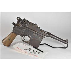 Prohib 12 - 6 - Mauser Model C 96 Broom Handled Bolo 7.63 MM Mauser Cal 10 Shot Semi Auto Pistol w/