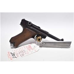 Prohib 12 - 6 - Luger ( Mauser S / 42 ) Model P08 Dated 1939 .9 MM Luger Cal 8 Shot Semi Auto Pistol