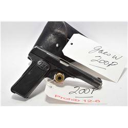 Prohib 12 - 6 - F.N. - Browning Model 1922 7.65 MM Cal 9 Shot Semi Auto Pistol w/ 114 mm bbl [ Nazi